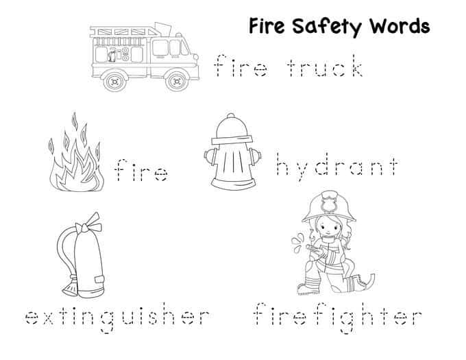 Preschool Fire Safety Booklet Printables