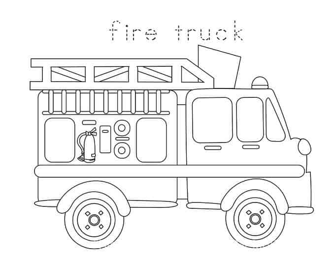 Firefighter On Truck Preschool Coloring Coloring Pages