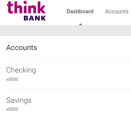 Find account and routing numbers › Think Bank