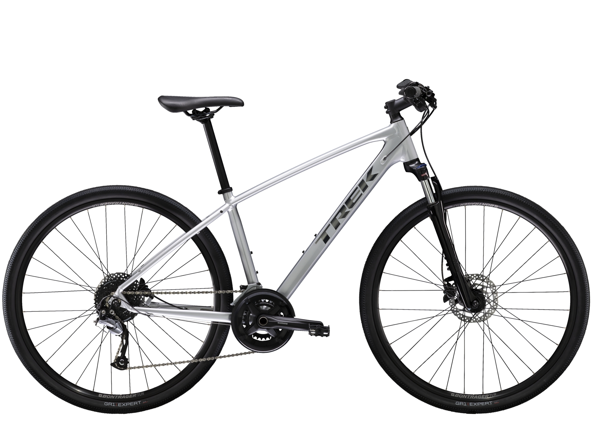 2020 Trek Dual Sport 3 Hybrid Bike in Silver
