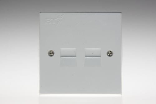 small resolution of my main socket has two telephone sockets on it will an i plate fit