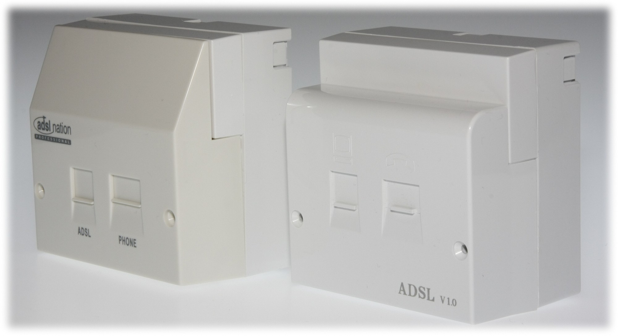 hight resolution of adsl faceplate filters