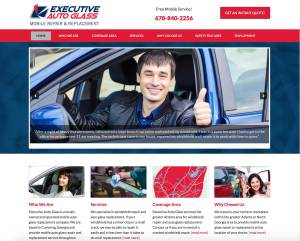 Executive Auto Glass Web Design