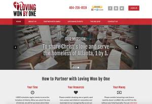 Loving Won by One Web Design