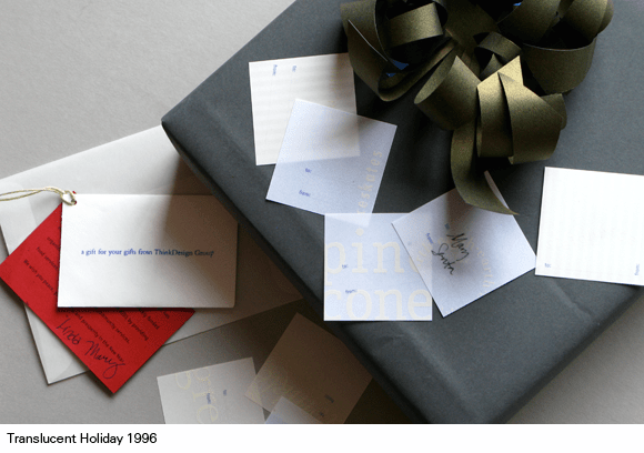 1996 THinkDesign Group gift tag