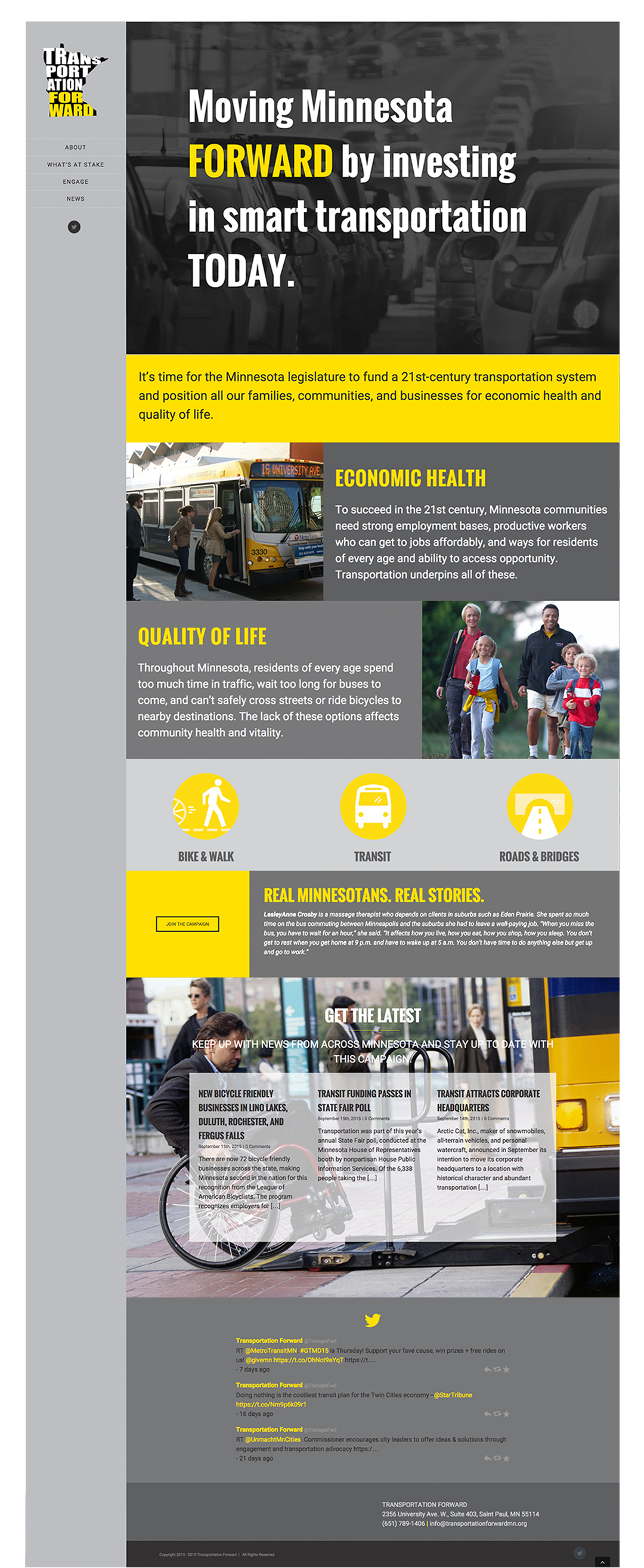 Transportation Forward home page