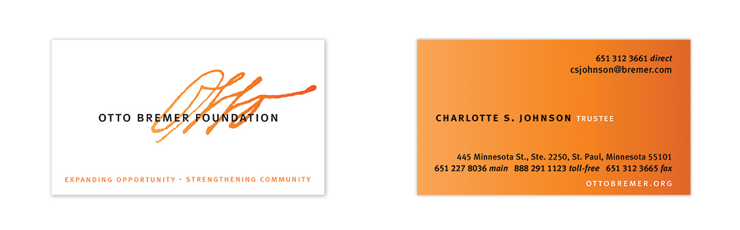 Otto Bremer Foundation business cards