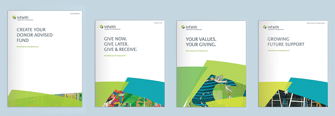 InFaith booklet designs