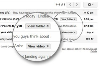 Gmail gets quick action buttons for YouTube, Dropbox, Google Docs and more