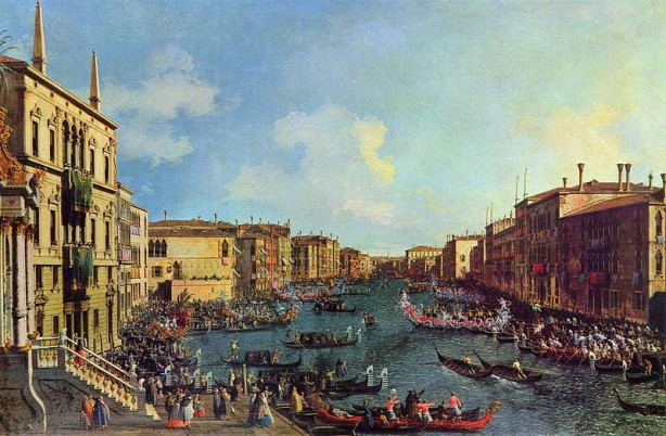 Regata on the Grand Canal by Canaletto
