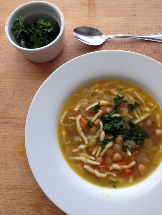 chickpea and pasta soup
