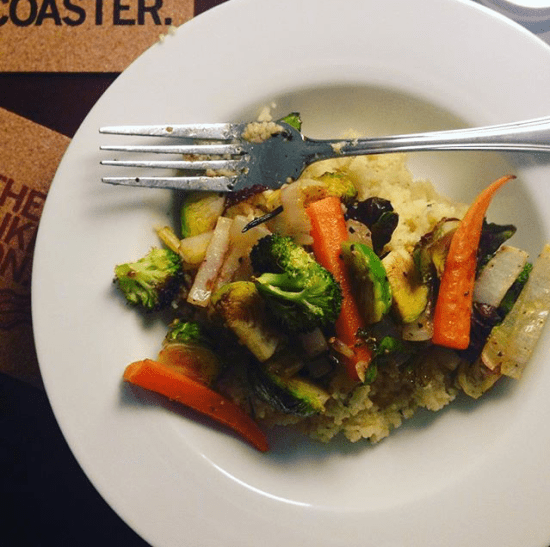 roasted vegetables with cous cous