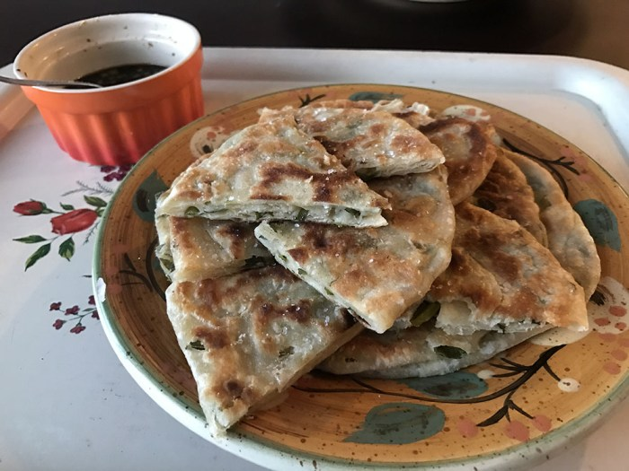 scallion pancakes
