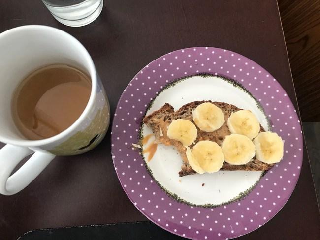 pb banana toast