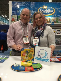 Bill Ritchie with Amy Worrell at Toy Fair
