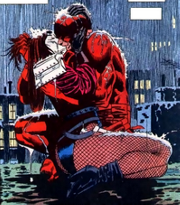 typhoid mary daredevil kissing