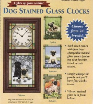 Dog Stained Glass Clocks