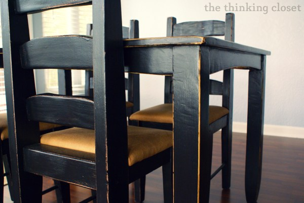 Distressed Black Dining Room Furniture