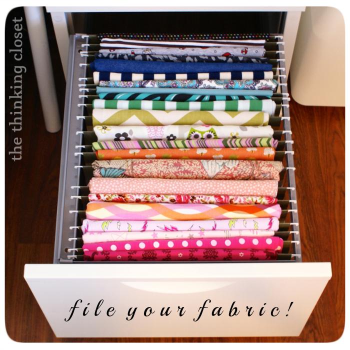 Filing Fabric & Fabric Organization Round-Up | The Thinking Closet