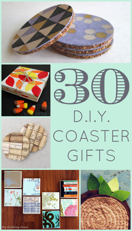 30 D.I.Y. Coaster Gifts  the thinking closet