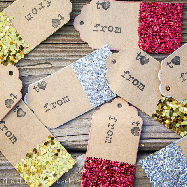 Glitter Dipped Gift Tags The Thinking Closet