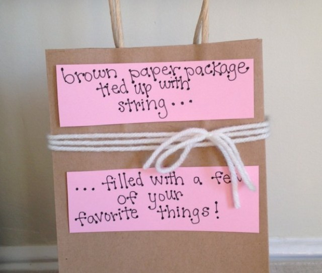Brown Paper Package Tied Up With String For Valentines Day One Of  Last