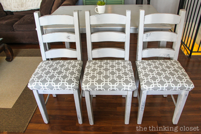 reupholster dining chairs table with leather how to a chair seat the no mess method thinking diy tutorial full of tips and tricks