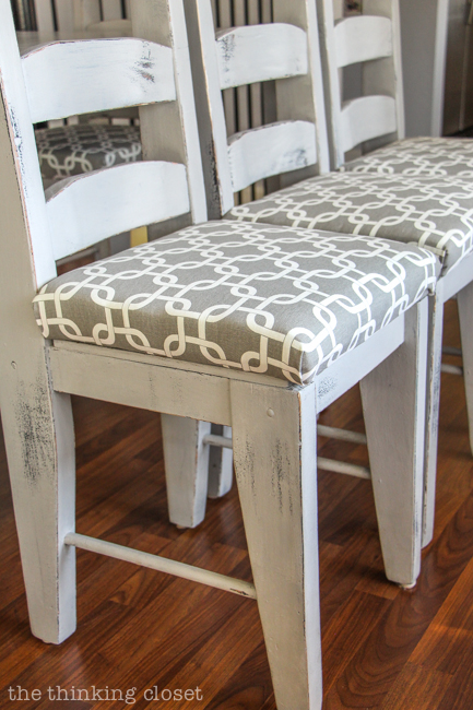 reupholster dining chair dorm chairs at kohl s how to a seat the no mess method thinking diy tutorial full of tips and tricks