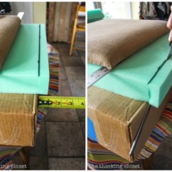 Reupholstering Sofa Cushions Do It Yourself Taupe Throws How To Reupholster A Chair Seat The No Mess Method Thinking Dining Diy Tutorial Full Of Tips And Tricks