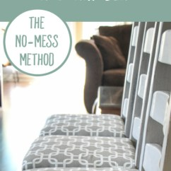 Diy Reupholster Living Room Chair Standard Window Size How To A Seat The No Mess Method Thinking