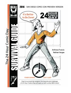 The 24 Hour Comic Day Survival Guide 2014 San Diego Comic-Con Preview Version cover