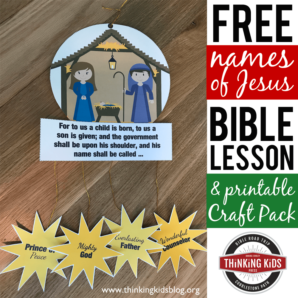 Names Of Jesus In The Bible Nativity Craft For Kids Thinking Kids