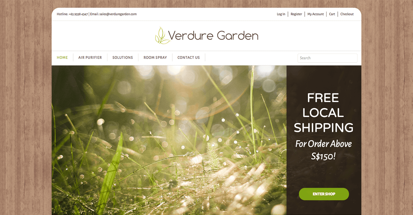 Thinking Notes Projects Showcase - Verdure Garden Website