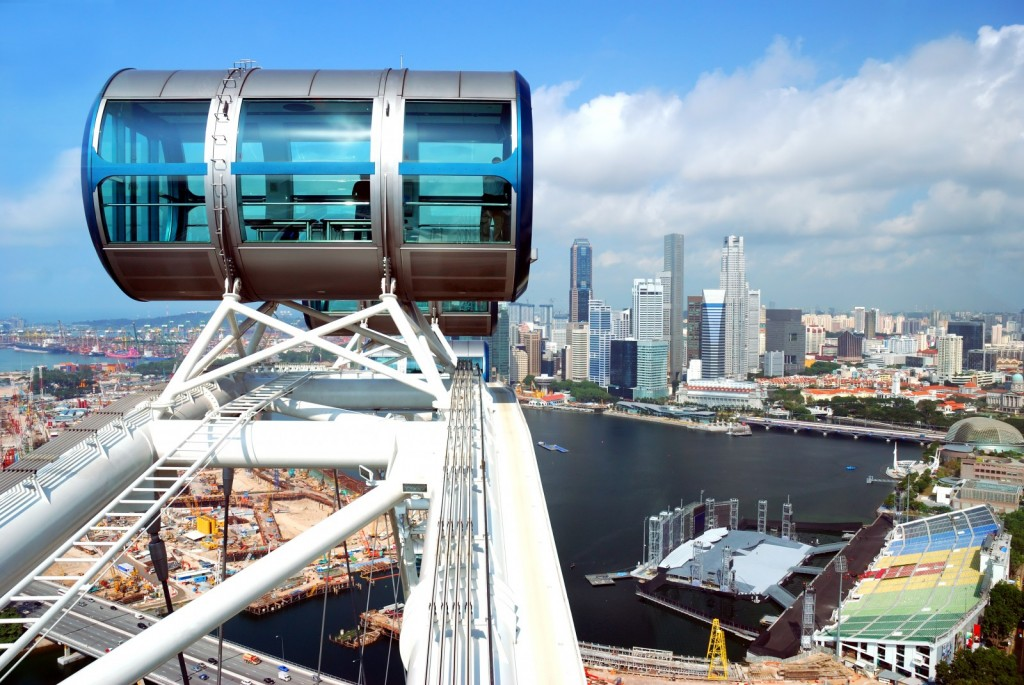 Singapore Flyer, Asia´s biggest ferris wheel.