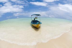 Crystal clears waters at Perhentian Islands on the Malaysian East Coast.