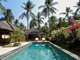 Pool villa at Kura Kura Resort, Karimunjawa Indonesia