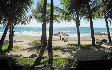 View from the beach villa at Sandoway Resort, Ngapali, Myanmar