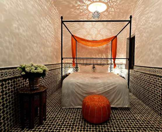 Stunning bed at one of the Origin Riads.