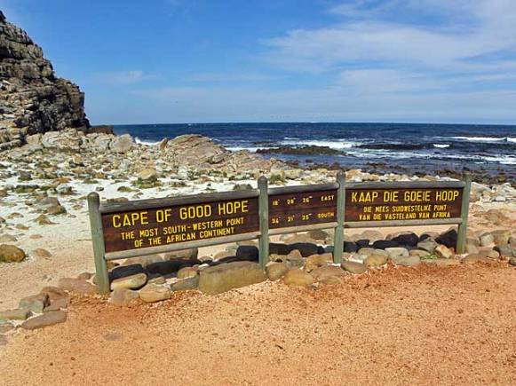 Cape of Good Hope is in a national park with beautiful scenery on the way there.