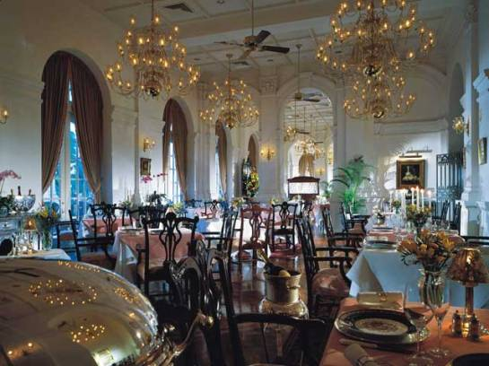 Raffles Grill at Raffles Hotel in Singapore.