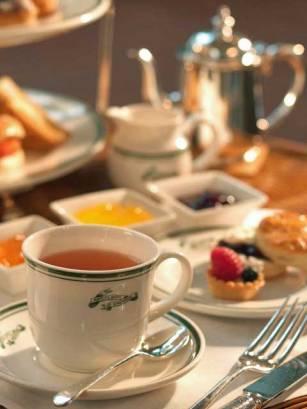 Afternoon Tea at Raffles Hotel, Singapore.