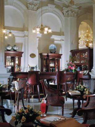 Writers Bar at Raffles Hotel in Singapore.
