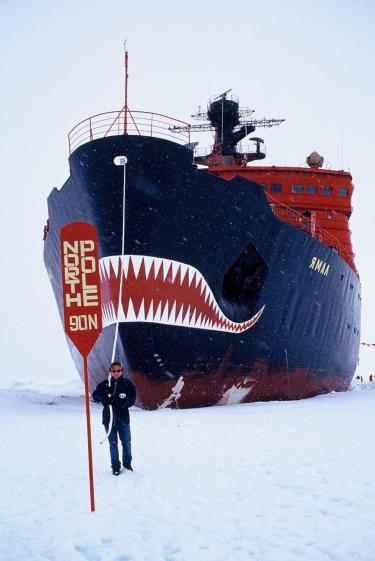 Martin Enckell on the North Pole.