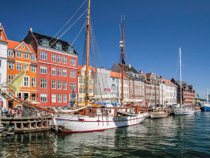 This is charming Nyhavn in Copenhagen, Denmark