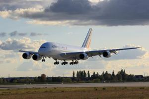 Air France A380 coming in for landing.