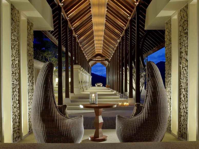 Entrance walkway at Pangkor Laut Resort, Malaysia.