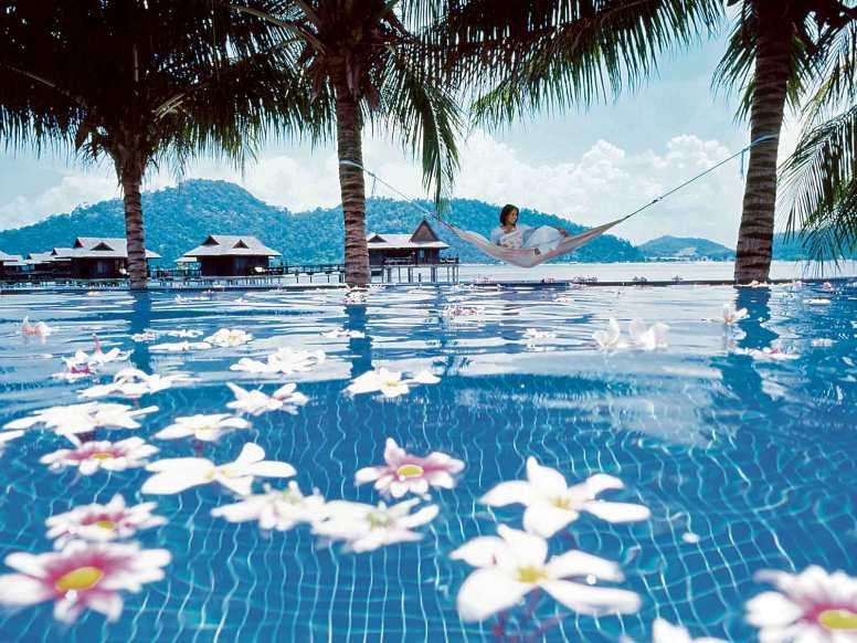 Pool at Royal Bay Beach Club, Pangkor Laut Resort in Malaysia.
