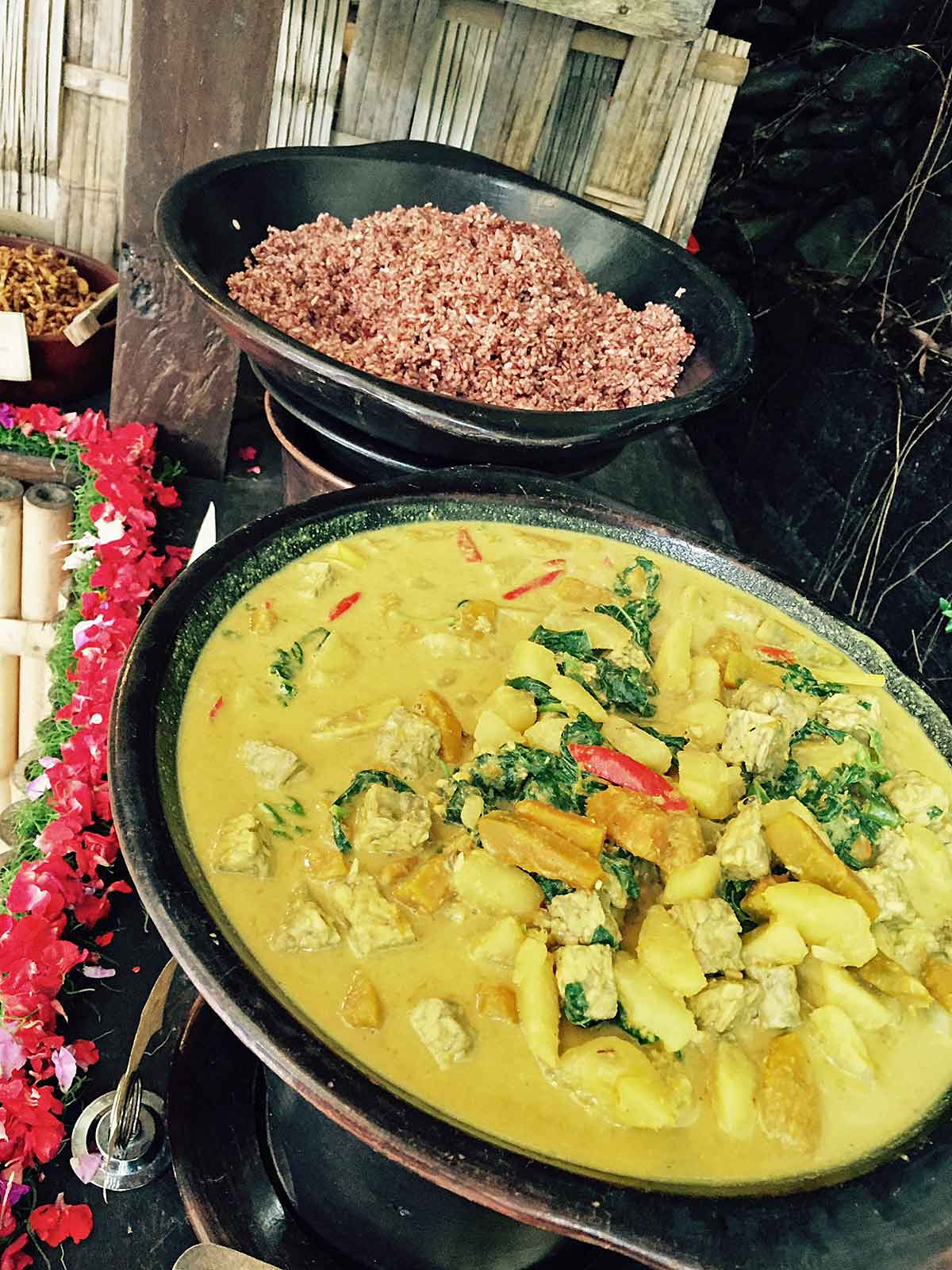 More vegetarian food from Ubud, Bali.