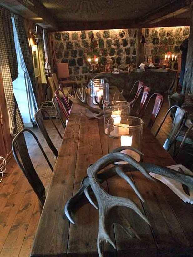 Main dining room at Camp Sävenfors.