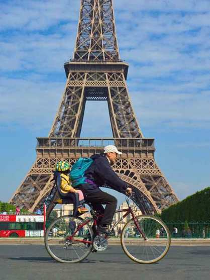 Biking in Paris can be adventurous.